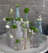 Vintage Ambiance Wedding and event rentals glass vases and small details